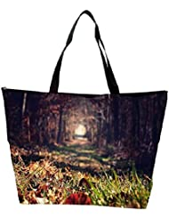 Snoogg Abstract Grass Designer Waterproof Bag Made Of High Strength Nylon