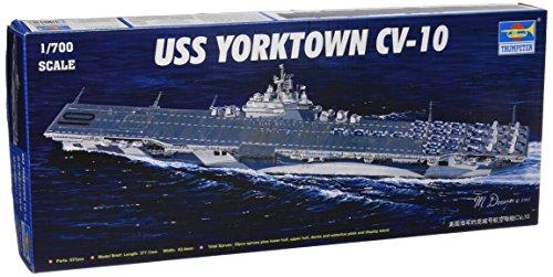 Trumpeter 1/700 USS Yorktown CV10 Aircraft Carrier Model Kit (Aircraft Carrier Model Kits compare prices)