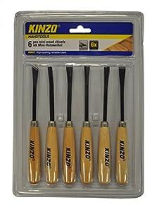 Kinzo 72150 Mini Ciseau à bois 6 pièces