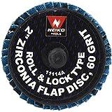 Neiko Roloc Type 2-Inch Flap Disc, Zirconia, 60 Grit, 10 Pieces