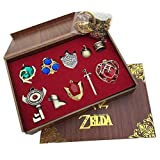 Yancos The Legend of Zelda Keychain Necklace Pendant Key Set Collection Gift Box