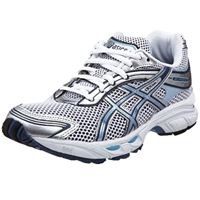 ASICS Women's GEL-Phoenix Running Shoe,White/Navy/Powder Blue,6 B US