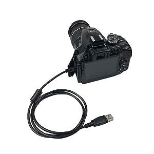 USB Interface Data Transfer Cable Compatible Nikon Digital SLR DSLR D3300 D750 D5300 D7200 D3200, Coolpix L340 L32 A10