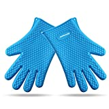 BeSafe Silicone Heat Resistant BBQ Grill Gloves for Cooking ...