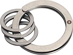 Key Chains & Key Rings,Easy-Open Key Ring System with 3 Mini Rings 1-1/8-In. Diam. Lightweight and Easy to Use(Pack of 2)