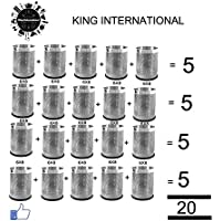 King International Perforated Stainless Steel 20pcs Combo Set Dustbin 7X11 Inch