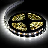 SUPERNIGHT (TM) ECO 16.4ft 5M SMD 5050 Cool White NON-Waterproof Led Flexible Strip Ribbon Lamp 300 Leds LED Light Strip 60Leds/M