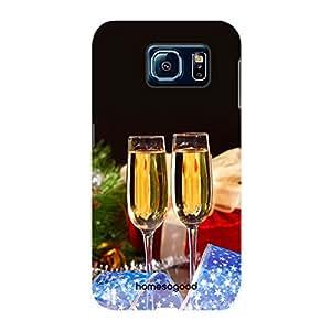 HomeSoGood Celebrating With Drink Multicolor 3D Mobile Case For Samsung S6 ( Back Cover)