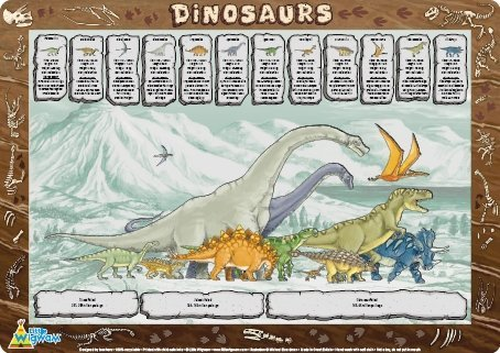 Little Wigwam Dinosaurs Placemat