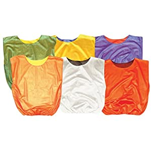 Mesh Reversible Scrimmage Vests-Youth Color Silver Black Sold Per DZN by SSG