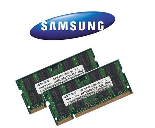 2x 2 GB 4GB SAMSUNG RAM DDR2 SO-DIMM 667MHz PC5300 für iMac + MacBook + MacBook Pro + mac mini