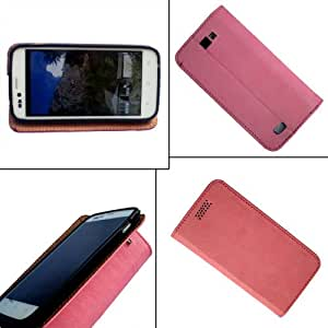 i-KitPit - PU Leather Flip Case Cover Nokia X (RM-980)(LIGHT PINK)