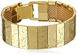 1928 Jewelry South Western Etched Gold-Tone Link Bracelet