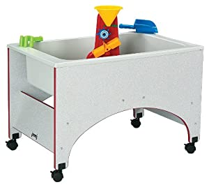 Rainbow Accents Toddler Sensory Table w Edge Banding (Yellow)