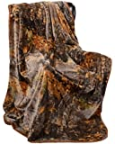 The Woods Natural Camouflage Design Heavy Weight Faux Mink Blanket Queen