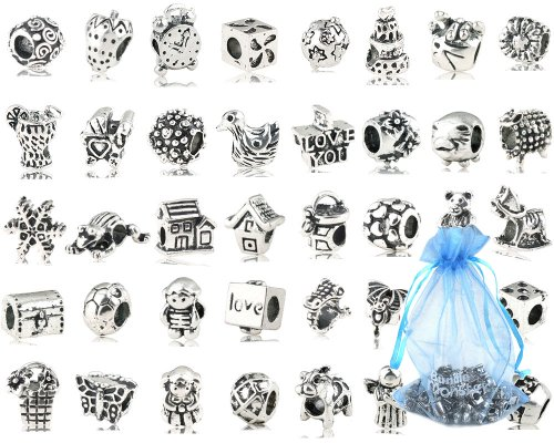 Bundle Monster 40 PC Antique Silver Plated Oxidized
