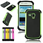 Voberry 1 x Hybrid Rugged Rubber Hard High Impact Armor Case Cover For Samsung Galaxy S III Mini i8190 (Green)