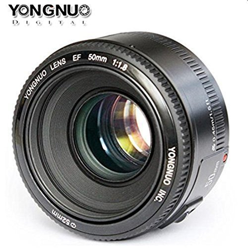 Yongnuo-YN50mm-F18-Lens-Large-Aperture-AF-Lens-in-Black-For-Canon-EOS-Rebel-Digital-Camera