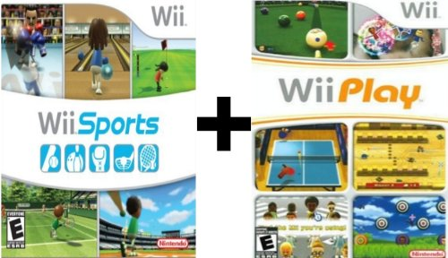 2 Games: Wii Play (Game Only) AND Wii Sports [Wii]