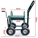Gotobuy 4 Wheel Water Hose Reel Heavy Duty Cart 300 Ft Garden Yard Water Planting