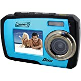 Coleman Duo 2V7WP-BL 14 Megapixel Waterproof Digital Camera with Dual LCD Screen (Blue)