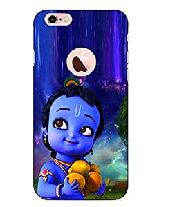 Case Cover Krishna Printed Blue Hard Back Cover For Apple Iphone 6