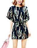 Women Pullover Elbow Sleeve Round Neck Novelty Print Casual Dress