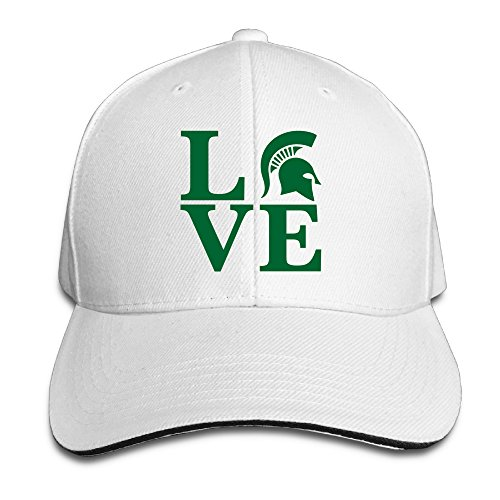 BFF Hats Fashion Baseball Cap Sports Michigan Love State University Dicer White (Kansas State Chef Hat compare prices)