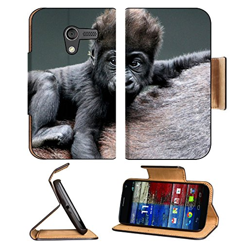 Monkey Baby Gorilla Ape Animals Motorola Moto X Flip Case Stand Magnetic Cover Open Ports Customized Made To Order Support Ready Premium Deluxe Pu Leather 5 7/16 Inch (138Mm) X 3 1/16 Inch (78Mm) X 9/16 Inch (14Mm) Liil Mobility Cover Professional Motox C front-762939