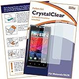 2 x mumbi Displayschutzfolie Motorola RAZR MAXX / Motorola RAZR Displayschutz CrystalClear unsichtbar