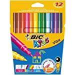 BiC Kids' Visa Colouring Pens - Walle...