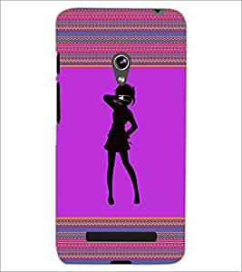 PrintDhaba Girly Design D-2601 Back Case Cover for ASUS ZENFONE 5 A501CG (Multi-Coloured)