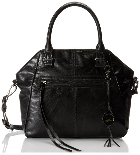 Elliott Lucca Faro Satchel,Black Distressed,One Size