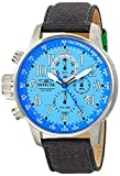 Invicta Men's 12077 I-Force Chronograph Ocean Blue Dial Grey Cloth Watch
