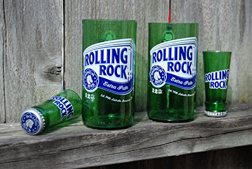 set-of-2-upcycled-rolling-rock-glasses-and-2-shot-glasses