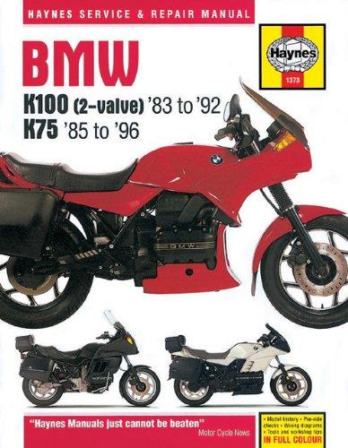 Bmw K100 (2-valve) '83 to '92 & K75 '85 to '96 Service and Repair Mainual
