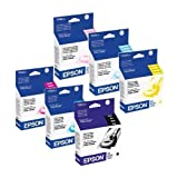 Epson T048 (T048120-T048620) OEM Genuine Inkjet/Ink Cartridges Combo For Epson Stylus Photo Inkjet Printers Pack...
