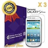 OnlineBestDigital - Films de protection d'écran pour Samsung Galaxy S4 Mini, Crystal Clear / Transparent - OnlineBestDigital Emballage au Détail (Pack of 3)