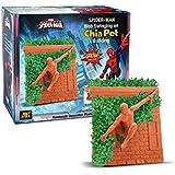 Chia Pet Spider-man Web Swinging on Chia Pet Building