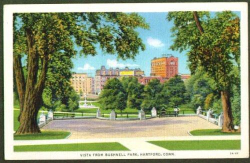 Bushnell Park Hartford Ct Postcard 1940S