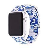 [バンドマックス]Bandmax Apple Watch Band アップルウオッチ バンド レザー 本革 ブルー 42mm アクセサリー[APB2152]