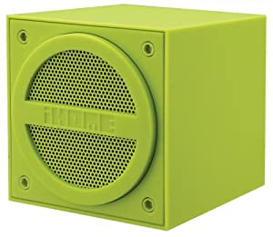 iHome iBT16 Bluetooth Rechargeable Mini Speaker Cube in Rubberised Finish - Green