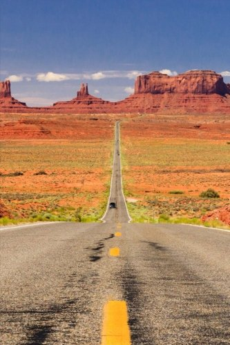 The Desert Road to Monument Valley Utah: Blank 150 Page Lined Journal for Your Thoughts, Ideas, and Inspiration