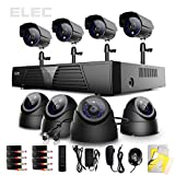 ELEC® New 8 Ch Channel HDMI DVR Security System CCTV H.264 Internet & 3g Phone Accessible with 4 Dome 4 Bullet Night Vision Cameras ELEC-CVK-1008DB (No Hard Drive)