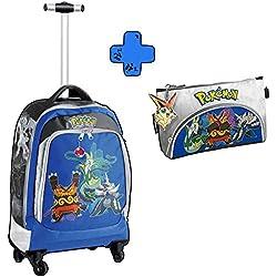 Auguri Preziosi -Pokemon-Zaino Trolley Deluxe + Bustone 2 Zip Pokemon pikachu pokemon go