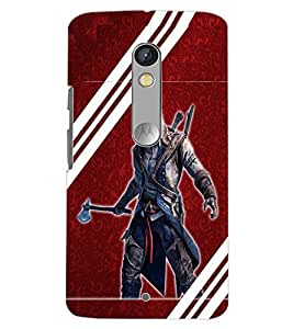 PrintDhaba EVIL MAN D-6401 Back Case Cover for MOTOROLA MOTO X PLAY (Multi-Coloured)