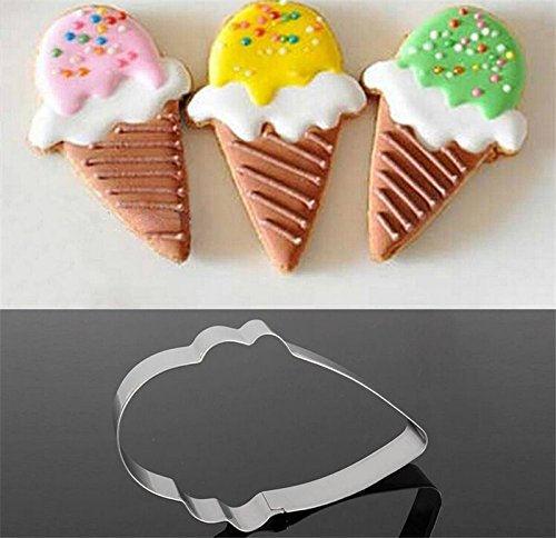1 Pcs/Quality Stainless Steel Ice Cream Cone Cake Biscuit Cookie Cutter Bread Cupcake Mold Cake Decorating tools (Name Plate Cookie Cutter compare prices)
