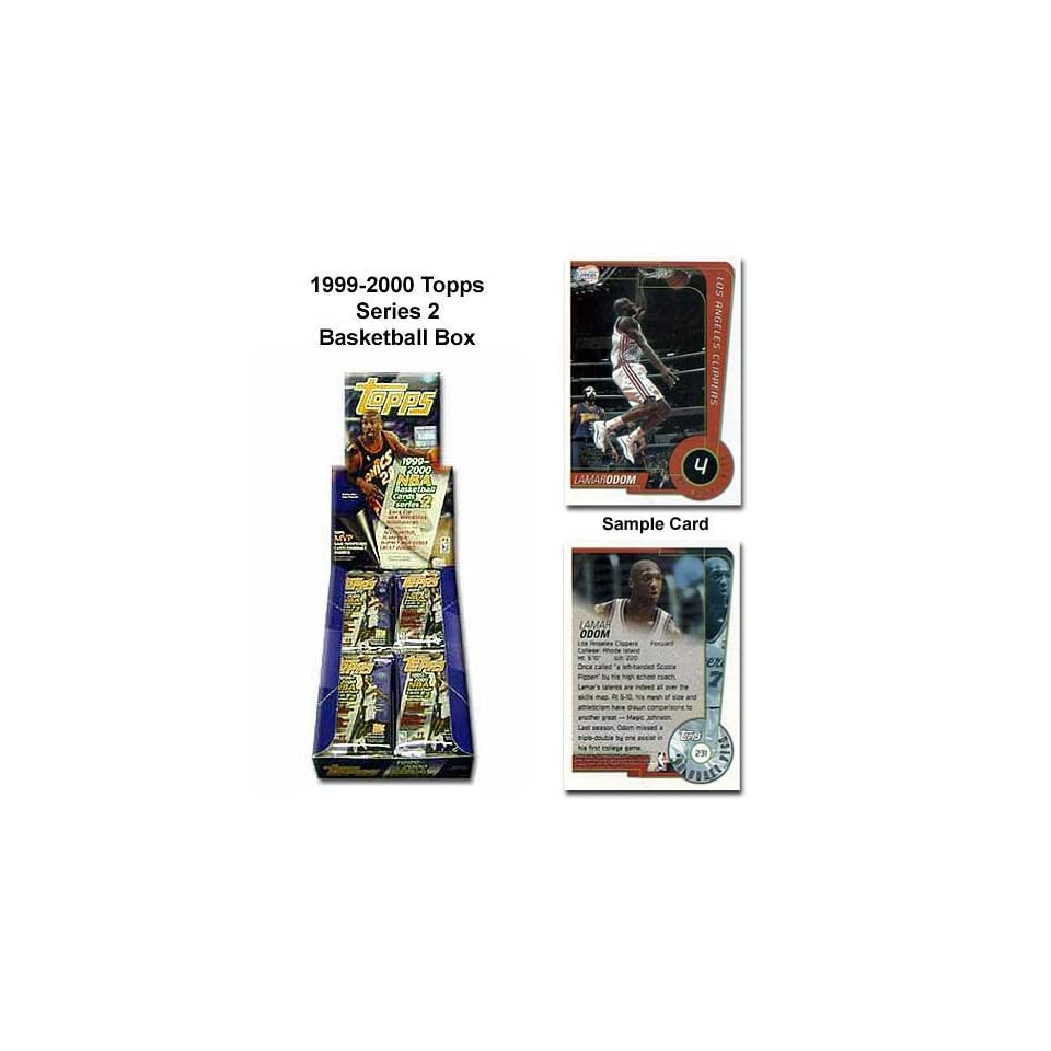 Topps 1999 00 Series Two Nba Unopened Trading Card Box
