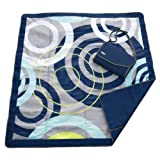 JJ Cole Outdoor Blanket, Blue Orbit, 5 x 5