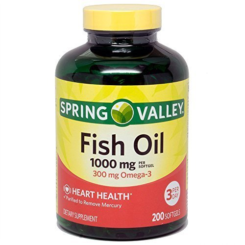 Spring Valley All Natural Fish Oil Heart Health 1000 Mg/300 Mg Omega-3 200 Soft Gel by Spring Valley